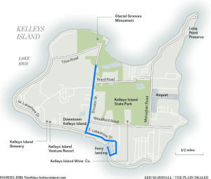 Kelley island map